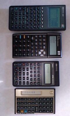 【hp】電卓を並べてみました
