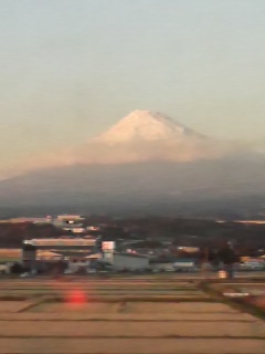 夕方の富士山も見られました