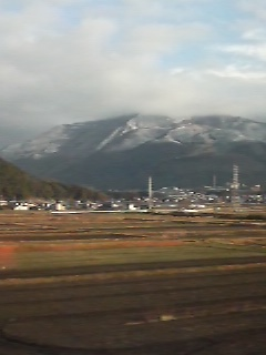 伊吹山に積雪
