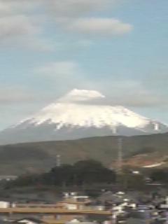 富士山の雪、すっかり濃くなりました