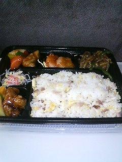 柿安・上海デリの炒飯酢豚弁当
