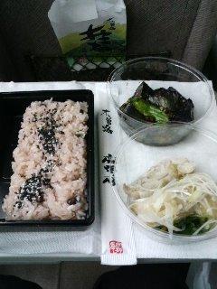 お赤飯と中華二品