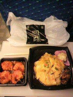 四陸の天津飯と海老チリソース