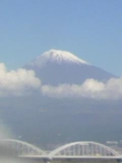雪のついた富士山がスッキリ見えました