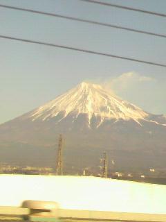 あけましておめでとうございます。初富士山です