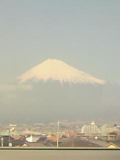 久しぶりに昼下がりの富士山